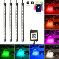 4x 12LED RGB Car Interior Atmosphere Footwell Strip Lights USB Charge Decor Lamp