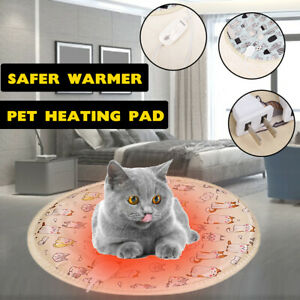 Pet Heated Warmer Bed Waterproof Round Pad Puppy Dog Cat Mat Electric Heater