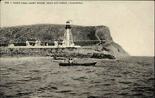 Point Loma Light House near San Diego California USA vintage postcard 1912 Boot