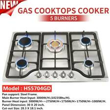 "30"" Stainless Steel 5 Burner Stoves NG/LPG Gas Cooktops Cooker & 1 year Warranty"