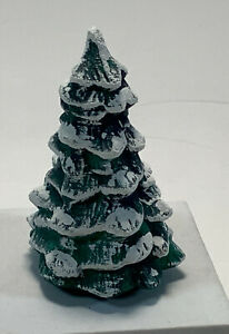 """Ceramic Pine 3.5"""" Tree with Snowy Tips Holiday Decoration"""