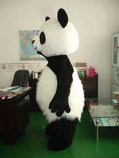 1x Panda Bear Mascot Costumes Long Fur Cosplay Birthday Dress Adults Dress Newly