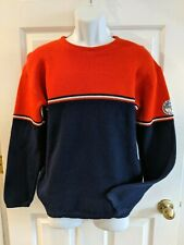Vintage Charles Wolf Oslo-Norway 100% Pure New Wool Ski Sweater - Men's Size M