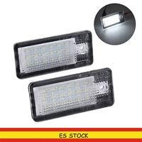 2x 18LED LUCES DE MATRICULA LED REEMPLAZO  para Audi A3 S3 A4 A6 B6 Q7 B7