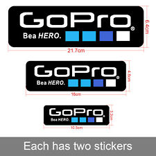 6Pcs OUT-DOOR Waterproof Logo Stickers Decal For GoPro Accessories Sports Camera