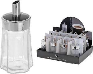175 ML CLASSIC CAFE GLASS SUGAR DISPENSER POURER CRUET CONDIMENT CANISTER