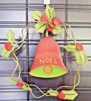 Christmas Noel Sign Wall Wreath Shabby Chic Mistletoe Bell Country Holiday Urban
