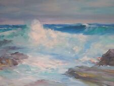 """George Dinckel (American,1891-1976) """"Surf at Andrews Point-Cape Ann"""" Rockport MA"""