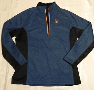 Mens XL Blue Spyder Outbound 1/2 Zip Stryke Sweater