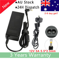 12 Volt 5 Amp (60Watt) Adapter Charger Power Cord For PC LCD Monitor TV
