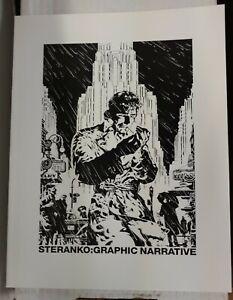 STERANKO GRAPHIC NARRATIVE ART BOOK, 1978, MARVELMANIA, SHIELD, SHADOW,CHANDLER