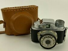 TEEMEE Hit Type Vintage Subminiature Spy Camera Made in Japan w/ leather case