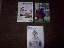 Bundesliga Hamburger SV, HSV  Maskottchen Hermann 3 Autogrammkarten SEHR SELTEN