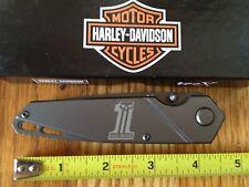 Case® HARLEY-DAVIDSON TEC-X INCEPTRA-T LINERLOCK FOLDING KNIFE PLAIN EDGE NEW