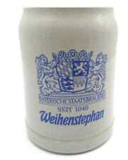 Beer Stein Mug Half Liter German Stoneware Salt Glaze Weihenstephan Seit 1040
