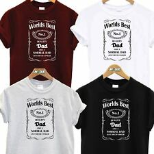 WORLDS BEST NO1 DAD DADDY T SHIRT TOP TEE TSHIRT FATHERS DAY GIFT BIRTHDAY XMAS
