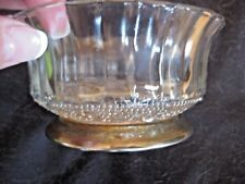 "Vintage Clear Glass Silver Base Nut Bowl Dish 4.5"" D"