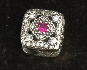 Pandora Charm 792013NCC Fairytale Treasure Cerise Crystal CZ S925 ALE