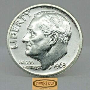 1963 Proof Roosevelt Silver Dime, Free Shipping  - #C19013