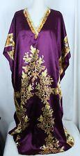 WINLAR CAFTAN Muumuu Purple Floral Hawaiian Tropical Print Plus Size Fits Most
