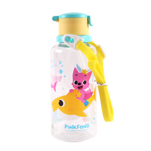 Baby Shark Water Eco Bottle With Straw / Shoulder Strap 380ml Sippy Cup Kids