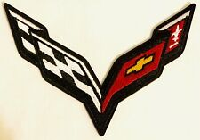 a MOTORSPORTS MOTOR RACING CAR SEW CORVETTE IRON ON PATCH:
