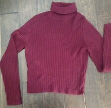 AEROPOSTALE - Ribbed Turtleneck Burgundy MAROON Sweater L Large