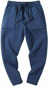Gihuo Men's Winter Fleece Sweatpants Sherpa Lined Athletic Pants Lounge Trousers