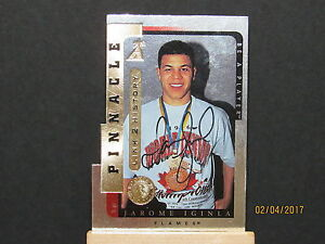 1996-97 Be A Player Link to History Autographs Silver #1A Jarome Iginla