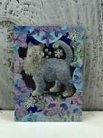 "ACEO Artist Trading Card ""Beautiful Glitter Cat"" Handmade Stickers & Glitter"