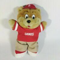 "2005 Shoney Bear 12"" Plush Shoney's Restaurant Mascot Red Baseball Shirt & Cap"