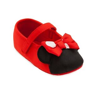 Disney Store Minnie Mouse Red Polka Dot Baby Costume Shoes 0 6 12 18 24 Months