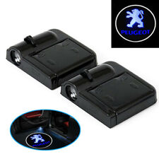 B30 2 Stück Wireless Auto Tür Licht LED Car Willkommen Projector Logo f PEUGEOT