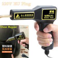 220V EU Plug Hot Stapler Plastic Welder Gun Tool Kit Car Body Panel Dent Repair