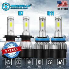 IRONWALLS H7+H11 3600W 570000LM LED Headlight Kit High Low Beam Bulb 6000K 2Pair