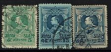 Thailand SC# 191, 194 and 197, Used -  Lot 010417