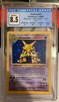 Pokemon - Alakazam - Shadowless set 1999 - Holo - 1/102 - CGC 8.5 NM - PSA 9