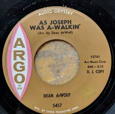 FOLK 45: DEAN deWOLF As Joseph Was A-Walkin'/Little Drummer Boy ARGO 5457