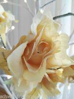 Rose Draht Blüten 138cm Rosengirlande Geländer Girlande Deko Blumengirlande gelb