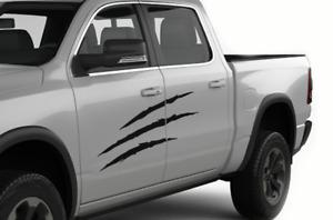 Side Decal for Dodge Ram Crew Cab 1500 Scratch Design Vinyl Graphics Sticker