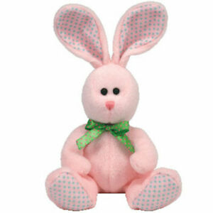TY Beanie Baby - VALLEY the Pink Bunny (6.5 inch) - MWMTs Stuffed Animal Toy