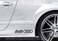 2x Audi Sport S Premium Cast jupe Decals Autocollants TT RS S-line A3 A4 A6 Quattro