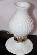 Vintage Underwriters Laboratories, Inc  Milk Glass Electric Portable Table Lamp