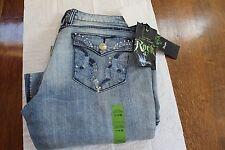 Wrangler Women's Jeans Rock 47 Cloudless Sky WHX74CS Ultra Low Rise 11 X 36