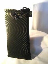 "Vatra 8"" Rectangle Black Velvet Zip Pouch Hookah Water Glass Bag Pipe Case"