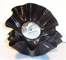Recycled Record Bowl / Gift Basket - Vintage Vinyl Album LP - Qty 1 - Music Gift