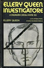 Ellery Queen ELLERY QUEEN INVESTIGATORE 4 INDAGINI DEGLI ANNI 30