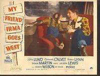 1950 MOVIE LOBBY CARD #4-1640 - MY FRIEND IRMA GOES WEST - DEAN MARTIN