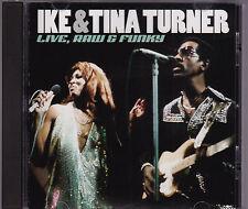 Ike & Tina Turner - Live, Raw & Funky - CD (GA-CD-941 GAMC U.S.A.)
