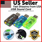 5.1 USB to 3.5mm Mic Headphone Jack Stereo Headset 3D Sound Card Audio Adapter